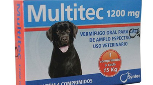 Vermífugo Oral Cães Multitec 1200mg - Syntec