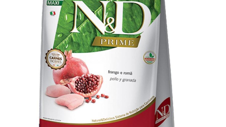 Ração ND Prime Cães Adultos Maxi 10,1kg sabor Frango - ND
