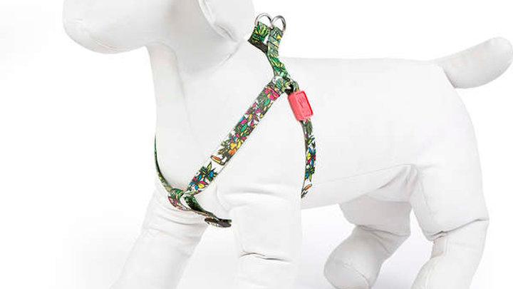 Peitoral Cães tam. M com 25cm a 45cm linha Flowers Paradise - Cusco Loko