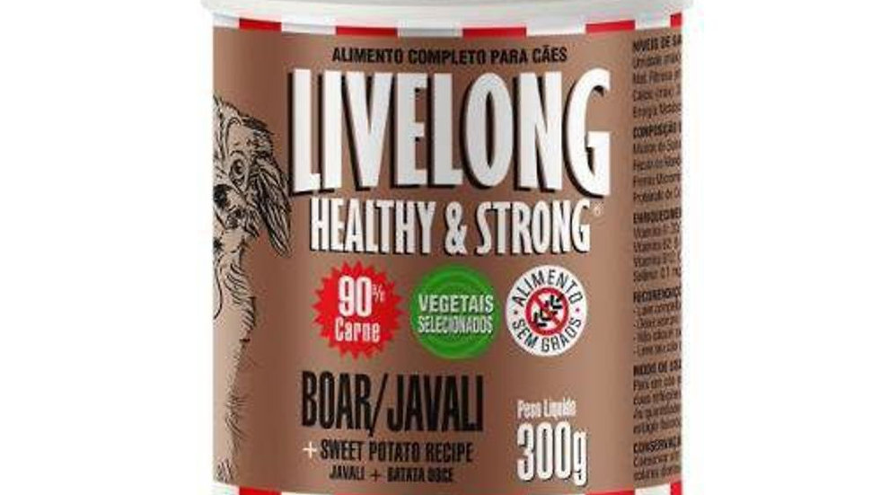 Alimento Úmido para Cães sabor Javali 300g - Livelong