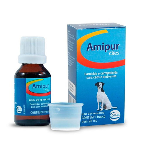 Amipur Cães 20ml Sarnicida e Carrapaticidas - Ceva