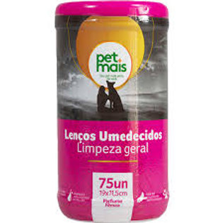 Lenços Umedecidos Rosa para Pet 75 unidades - Pet Mais