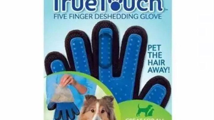 Luva Removedora de Pêlos Pet Azul para mão Direita mod. Puppets - True Touch