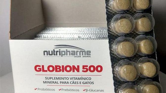Caixa Suplemento Vitaminico Pet Globion 500mg 10 Blister - Nutripharme