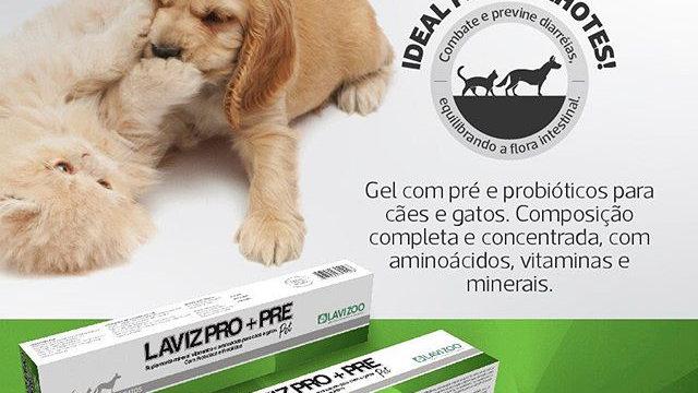 Laviz Probiótico+ Prebiótico Pet 14g - Lavizoo
