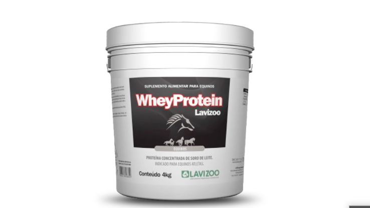 Whey Protein para Equinos 4kg Lavizoo - Suplemento para Cavalo
