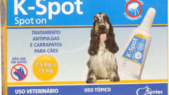 Antipulgas Cães K-Spot 4ml para cães de 7,5kg a 15kg - Syntec