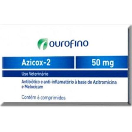 Antibiótico e Anti-inflamatório Pet  Azicox 2 50mg - Ouro Fino