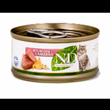 Alimento Úmido ND Feline Atum com Camarão 70gr