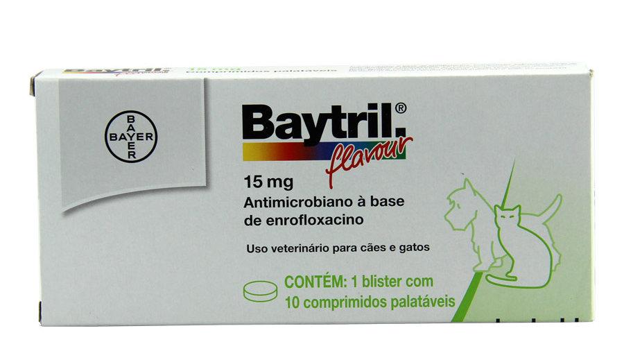 Antibiótico para Cães e Gatos Baytril Flavour 15mg - Bayer