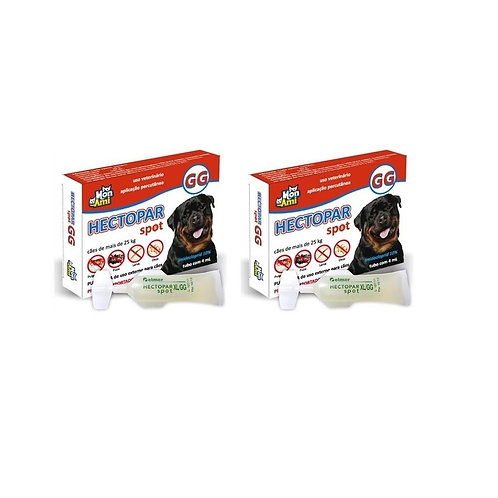 Combo 2 Antipulgas Hectopar GG cães acima de 25kg -