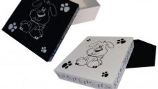 1 unidade Caixa Decorada Cão tam. 14cm x 14cm x 6cm - Puppets
