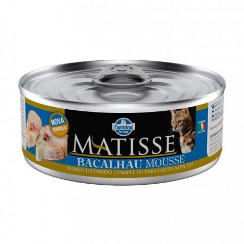 Alimento Úmido Matisse Mousse Cat sabor Bacalhau 85gr