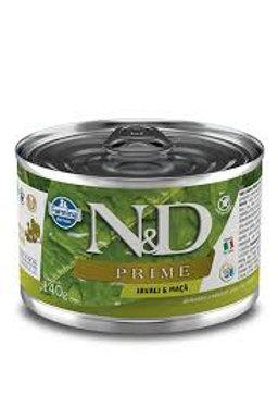 Alimento Úmido Cães ND Prime sabor Javali 140gr