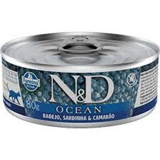 Alimento Úmido Gatos ND Ocean sabor Badejo 80gr