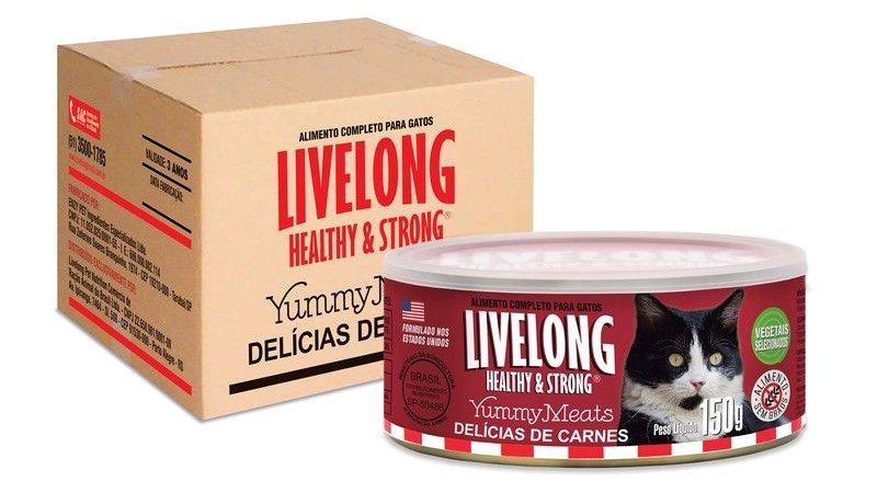 Caixa fechada Alimento Úmido Gatos c/ 12 unid. 150gr sabor Carne