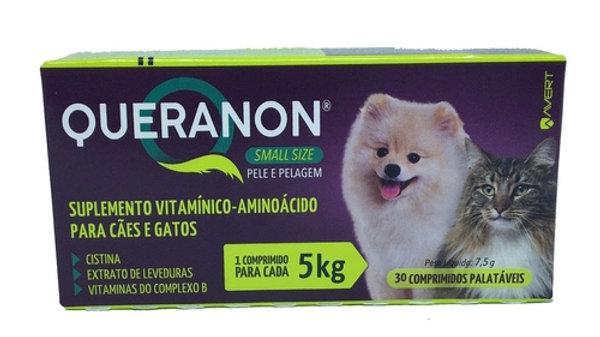 Suplemento Vitamínico Pet Queranon 30 comprimidos - Avert
