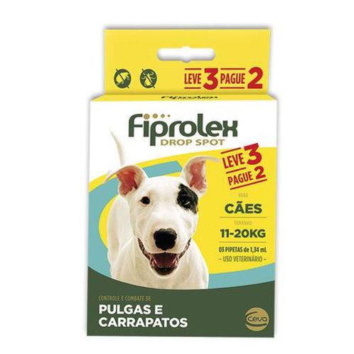Antipulgas Fiprolex 1,34ml Combo Cães de 11kg a 20kg - Ceva