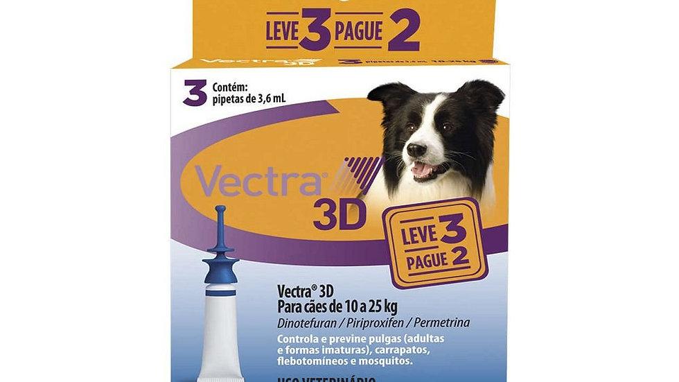 Combo Antipulgas Vectra 3D Cães de 10kg a 25kg -Ceva