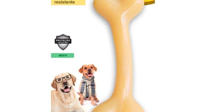 Brinquedo Osso Pequeno cor Branca para Cães Sênior - Odontopet