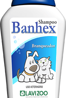 Shampoo Pet Branqueador Banhex 500ml - Lavizoo
