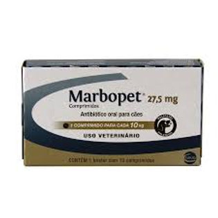 Antibiótico para Cães Marbopet 10 Comprimidos 27,5mg - Ceva