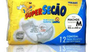 Fralda tamanho M Cães Machos 12 unidades - Super Secão Petix