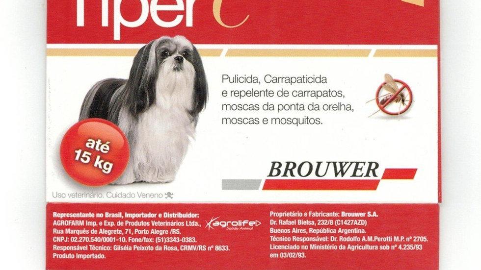 Antipulgas e Carrapatos para Cães até 15kg Tiper C 1,12ml - Brouwer