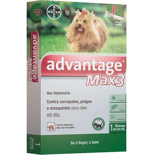 Antipulgas Advantage Max3 Cães e Gatos 0,4ml - Bayer