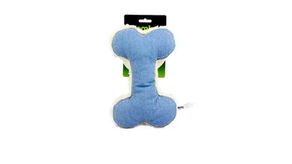 Brinquedo Cães Osso com Apito cor Jeans - Vemka
