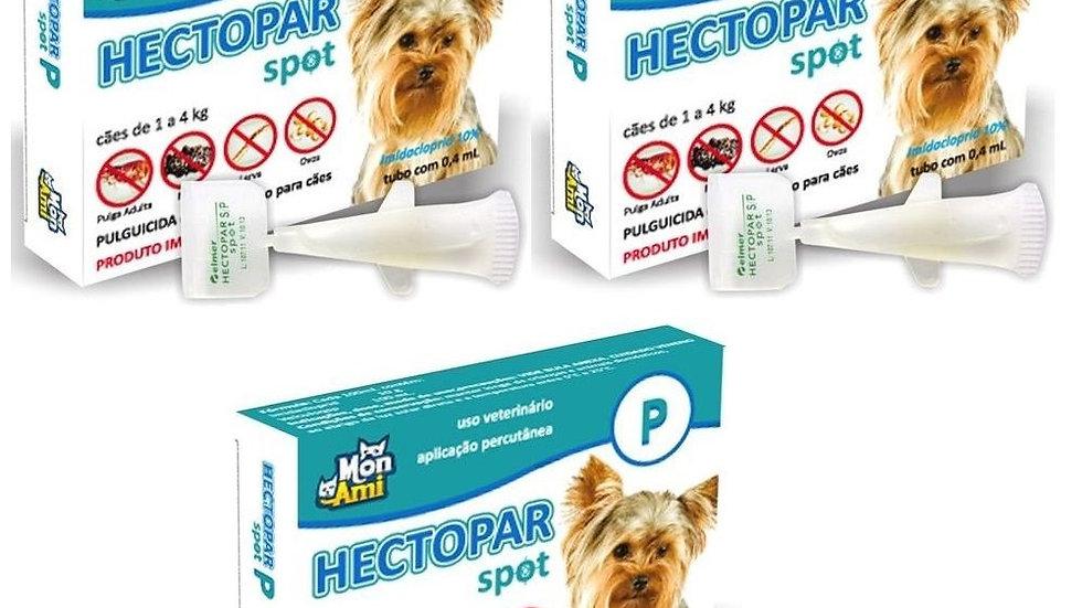Combo 3 Antipulgas Hectopar P cães de 1kg a 4kg