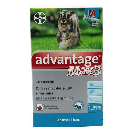 Antipulgas Advantage Max3 Cães e Gatos 1ml - Bayer
