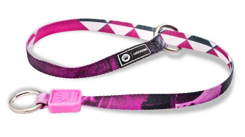 Guia Choke para Cães William Piuí Pink  tam.P e M 55cm - Cusco Loko