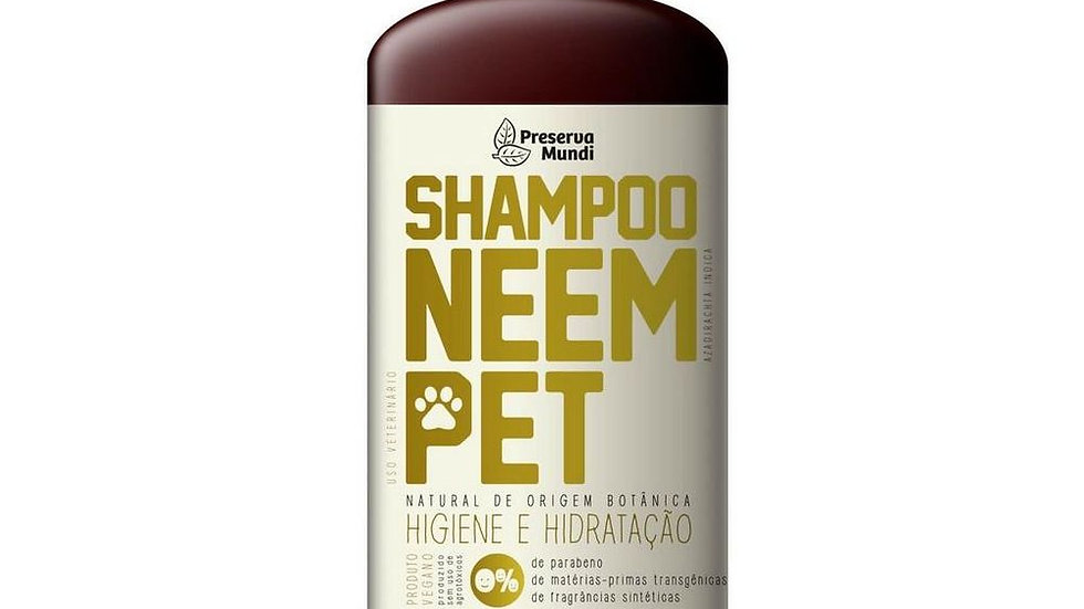 Shampoo Repelente de Neem - Uso Animal - Preserva Mundi - 180ml