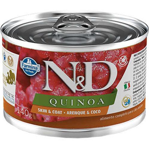Alimento Úmido Cães ND Quinoa Arenque 140gr