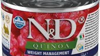 Alimento Úmido Cães Quinoa Weight Management 140gr - ND