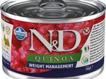 Alimento Úmido Cães ND Quinoa Weight Management 140gr