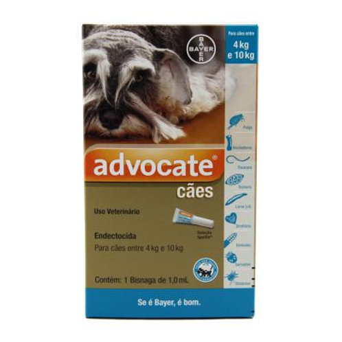 Antipulgas Advocate Cães 4 a 10kg 1,0ml - Bayer