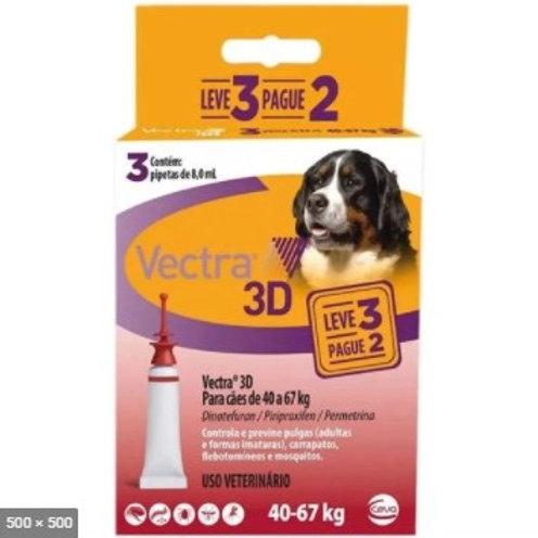 Combo Antipulgas Vectra 3D Cães de 40kg a 67kg -Ceva