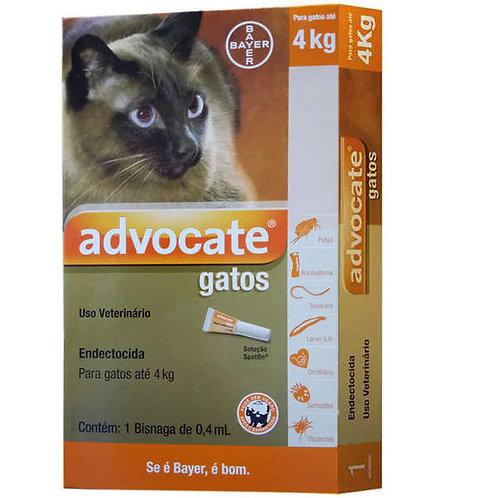 Antipulgas Advocate Gatos até 4kg 0,4ml - Bayer