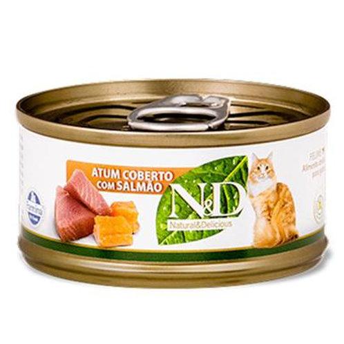 Alimento Úmido ND Feline Atum com Salmão 70gr