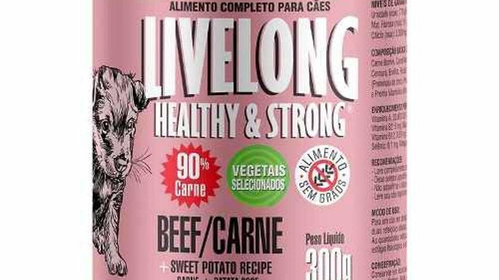 Alimento Completo Para Cães Livelong Sabor Carne 300g