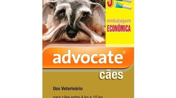 Antipulgas Advocate Combo Cães 4 a 10kg 1,0ml - Bayer