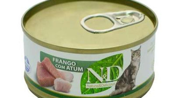 Alimento Úmido Feline Frango com Atum 70gr - ND