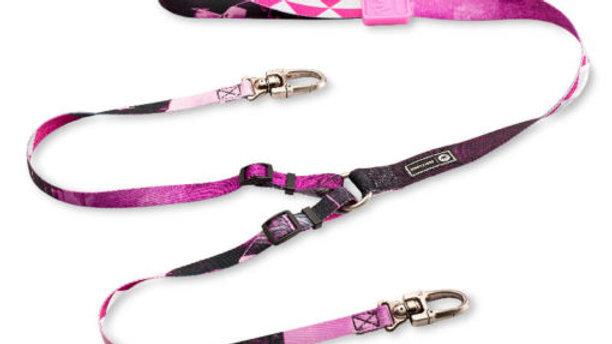 Guia Dupla Cães linha William Piui Pink - Cusco Loko