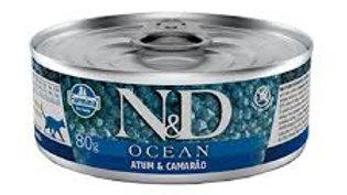 Alimento Úmido Gatos Ocean sabor Atum 80gr - ND