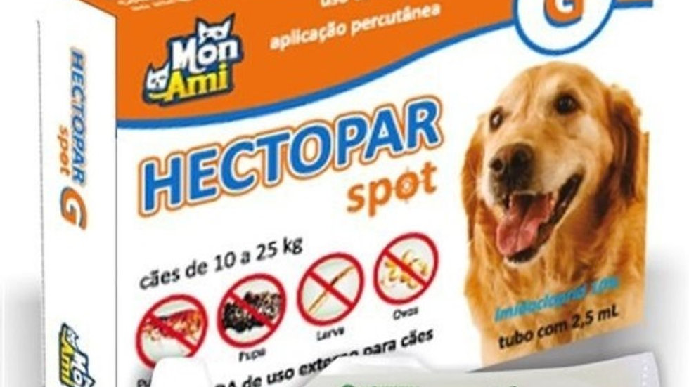Antipulgas Hectopar tam. G cães de 10kg a 25kg