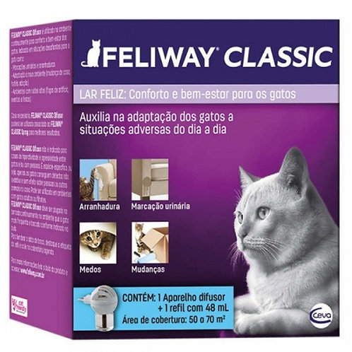 Felliway Gatos Classic Difusor Elétrico +Refil 48ml - Ceva