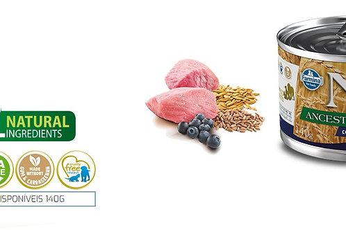 Alimento Úmido Cães ND Ancestral sabor Cordeiro e Blueberry 140gr