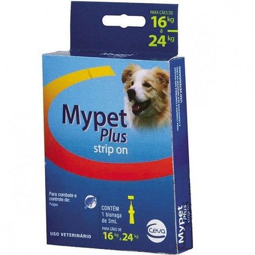 Antipulgas My Pet Plus Strip On 3ml Cães de 16kg a 24kg - Ceva